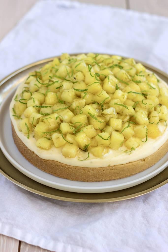 Limetkový koláč s ananasem