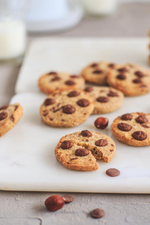 Oříškové sušenky s kávou a čokoládou