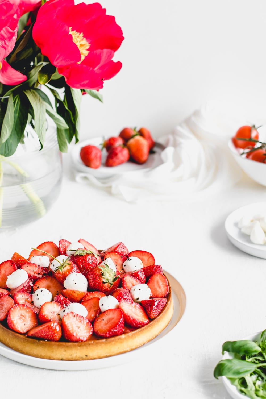 Rajčatovo-jahodový koláč Francoise Daubineta