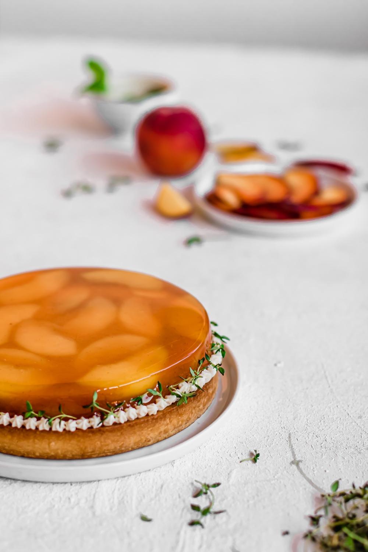 Broskvový koláč s verbenou